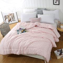 莫代尔磨毛冬被--粉色 150x200cm 粉色
