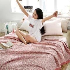 2018立体臻棉盖毯 150cmX(范围200-220)cm 安游-红