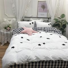 2018新款澳梵-保暖水洗棉毛巾绣宝宝绒四件套实拍图 三件套1.2m(4英尺)床 梦想