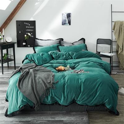 2018新款-【北欧风】简约水晶绒四件套 1.2m(4英尺)床三件套 森鹿