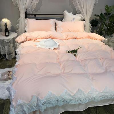 2018新款-宝宝绒【蕾丝花边】系列四件套实拍图 1.8m(6英尺)床 优妮-玉色