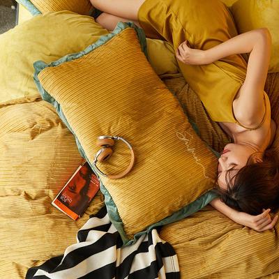 2019新款-魔暖绒纯色刺绣宽边法莱绒水晶绒新白小姐祺袍 床单款1.8m(6英尺)床 马德里