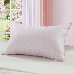 双人枕头长枕芯方垫特惠款枕芯5件套 凤尾花粉色48*74cm