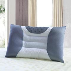 双人枕芯情侣枕头I1.2米1.5米1.8米单边灰网磁疗枕 单人枕48*74cm