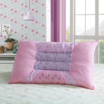 婚庆双人枕头长枕芯1.2米1.5米1.8米提花单边磁疗枕