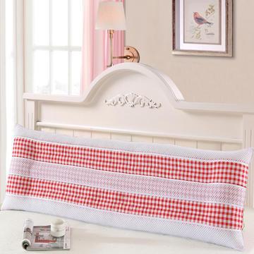 全棉双人枕头长枕芯1.2米1.5米1.8米三明治透气枕