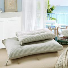 日式风全棉水洗棉枕头羽丝绒枕芯 30*50cm细米条儿童款