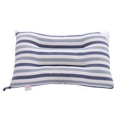 简约风全棉水洗羽丝绒枕头水洗棉枕芯 蓝条纹