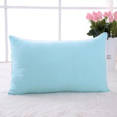 韩式水洗羽丝绒枕芯4色 48*74cm羽丝绒枕芯浅蓝