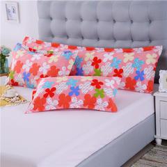 双人枕套纯棉双人枕芯套双人枕头套全棉长枕套 1.2米 玛奇朵-桔