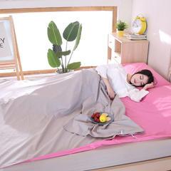旅行纯棉隔脏睡袋 全棉床单便携成人旅游宾馆酒店卫生双人睡袋 胭脂灰180*220