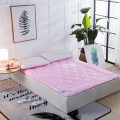 磨毛提花床垫 100*200   4斤 粉色