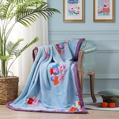 牛奶绒+棉儿童盖毯 毛毯毯子 140*110(配备专用佩琪正品包) 佩奇