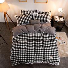 色织水洗棉四件套 1.5m/1.8m床 快乐气息-黑白