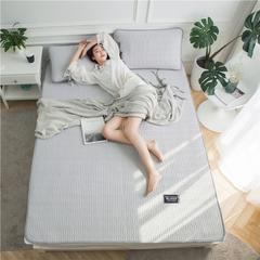 2018新款 冰柔丝乳胶空调软席 90*200cm 格调-灰(模特图)