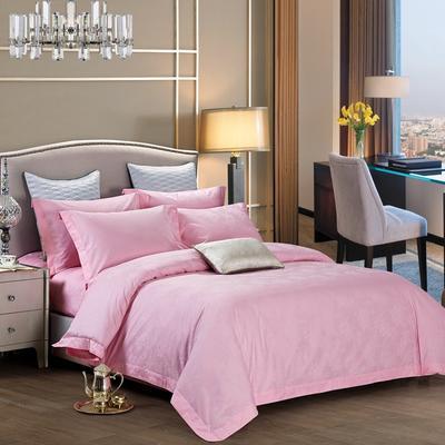 60长绒棉贡缎提花宾馆四件套 1.2m(4英尺)床 牡丹-粉