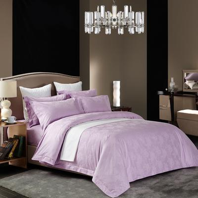 60长绒棉贡缎提花宾馆四件套 1.2m(4英尺)床 牡丹-紫