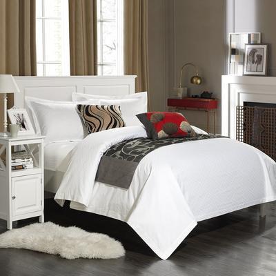 60长绒棉贡缎提花宾馆四件套 1.2m(4英尺)床 小条纹