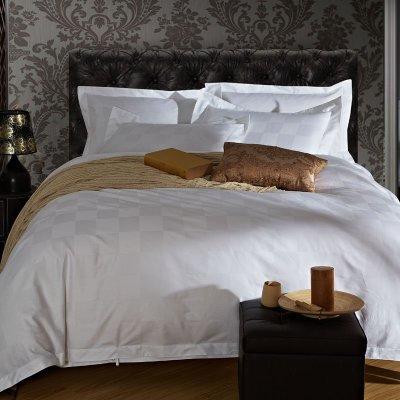 60长绒棉贡缎提花宾馆四件套 1.2m(4英尺)床 九方格