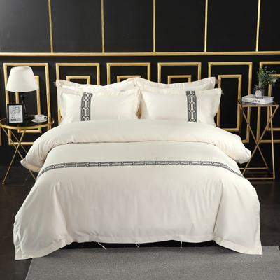 2019新款-无印棉品60s裸棉四件套-单条款 1.5m-1.8m床(床单款) 哥伦比亚
