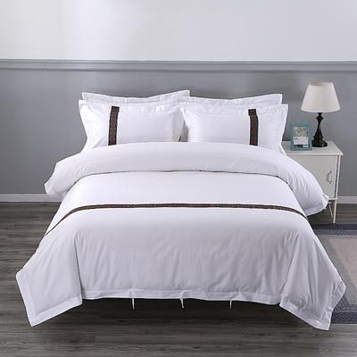 60S贡缎提花酒店风四件套-织带款 1.2m(4英尺)床 暗意生香