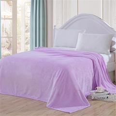 毯子系列 纯色法兰绒毯 1*1.5米 浅紫色
