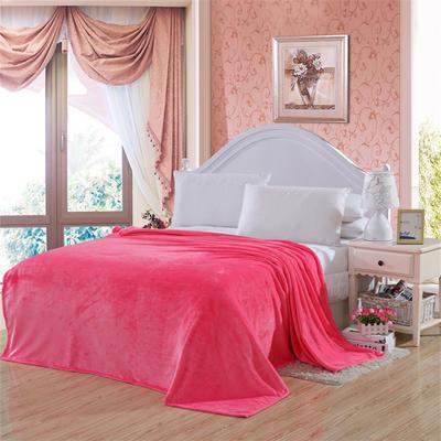 2020新款毯子系列 纯色法兰绒毯 1.5*2米 砖红