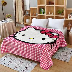 毯子系列 卡通KT猫毯 1.5*2米 香香KT