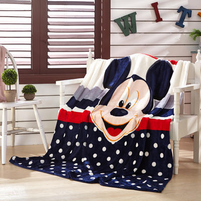 2021新款法莱绒卡通定位毛毯 2*2.3m 最爱米奇