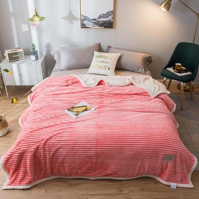 2020新款宝宝绒贝贝绒-双层复合毛毯 150*200cm 纯爱玉