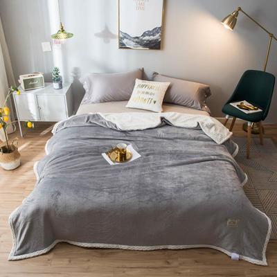 2020新款宝宝绒贝贝绒-双层复合毛毯 150*200cm 爵士灰