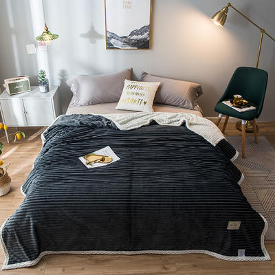 2020新款宝宝绒贝贝绒-双层复合毛毯 150*200cm 罗卡黑