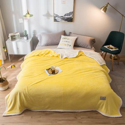 2020新款宝宝绒贝贝绒-双层复合毛毯 150*200cm 柠檬黄