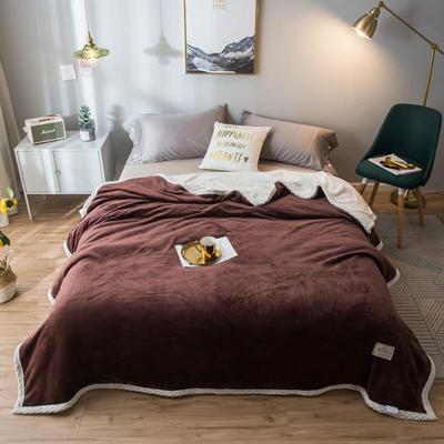 2020新款宝宝绒贝贝绒-双层复合毛毯 150*200cm 绅士咖