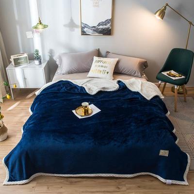 2020新款宝宝绒贝贝绒-双层复合毛毯 150*200cm 珍宝蓝