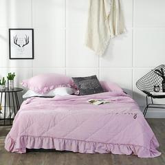 2018新款水洗棉夏被三件套 150cmx200cm 粉色