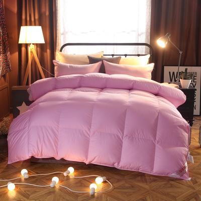 2020新款冬被-全棉羽绒被被子被芯 150cm×200cm/6斤 粉色