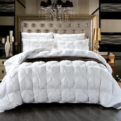 2020新款冬被-全棉柔赛丝纽花羽绒被被子被芯 150cm×200cm/6斤 白色