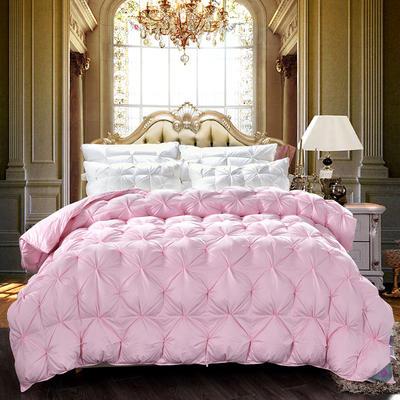 2019新款-全棉柔赛丝纽花羽绒被被子被芯 150cm×200cm/4斤 粉色