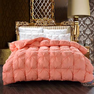 2019新款-全棉柔赛丝纽花羽绒被被子被芯 150cm×200cm/4斤 橘色