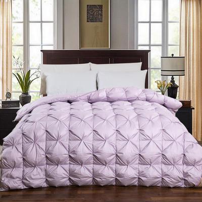 2020新款冬被-全棉柔赛丝纽花羽绒被被子被芯 150cm×200cm/6斤 紫