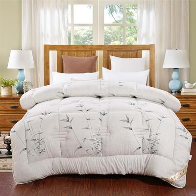 冬被 2020高档印花羽丝棉冬被 被芯  被子 180x220cm/8斤 富贵竹