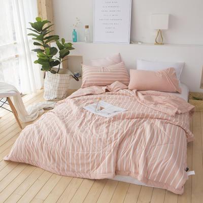 2018新   北欧良品色织夏凉三件套 200X230cm 枕套一只