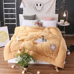 贴布绣水洗棉冬被 180×220cm/5斤 口袋兔-黄