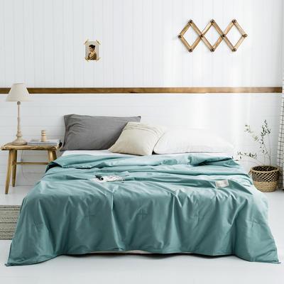2019新款-【棉主义】高密全棉水洗夏凉被 150x200cm 棉主义-茶绿