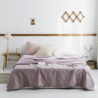 2019新款-【棉主义】高密全棉水洗夏凉被 150x200cm 棉主义-栗紫