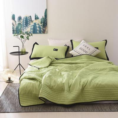 2019新款-【INS密条】北欧水洗棉夏被 150x200cm 密条-果绿