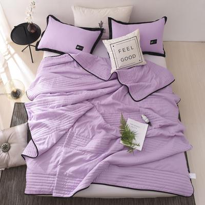 2019新款-【INS密条】北欧水洗棉夏被 150x200cm 密条-紫