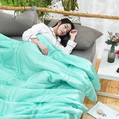 2019新款-【蒂芙妮】贡缎仿天丝冰丝夏凉被 150x200cm 蒂芙妮-水绿
