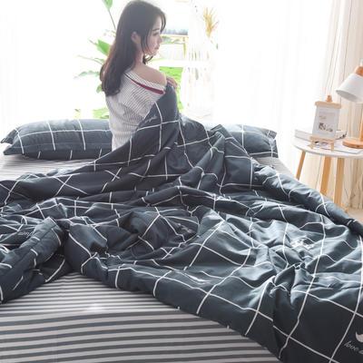 2019新款-可水洗棉印花【套件款】夏被 150*200cm 夏凉被 安逸